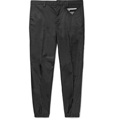 Prada Black Slim-Fit Tapered Nylon Trousers