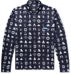 Prada Slim-Fit Button-Down Collar Printed Cotton-Jersey Shirt