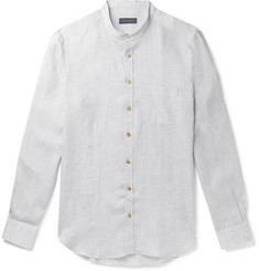 10866814cf6 Thom Sweeney - Slim-Fit Grandad-Collar Linen Shirt