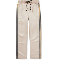 CMMN SWDN Striped Satin Drawstring Trousers