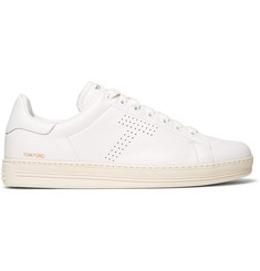 TOM FORD Warwick Perforated Full-Grain Leather Sneakers