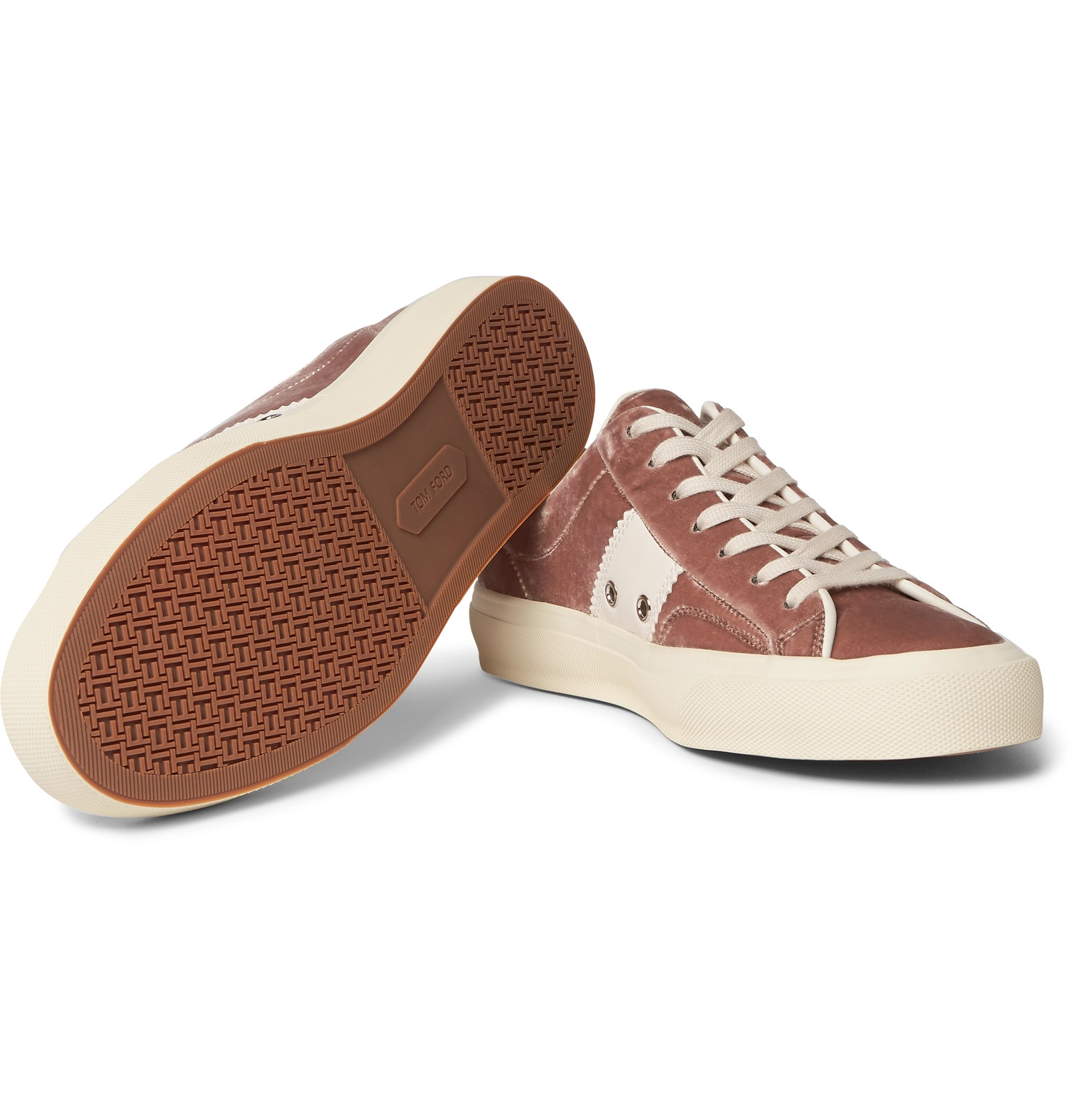 Trimmed Tom Cambridge Velvet Sneakers Leather Ford prwCqr