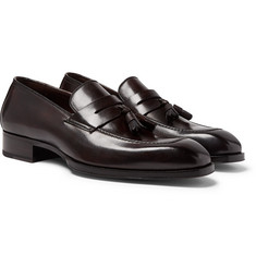 TOM FORD - Elkan Leather Tasselled Penny Loafers