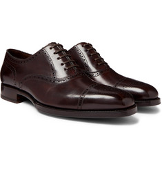 TOM FORD - Wessex Burnished-Leather Brogues