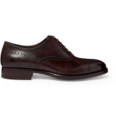 TOM FORD Wessex Burnished-Leather Brogues