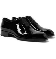 TOM FORD - Elkan Whole-Cut Patent-Leather Oxford Shoes