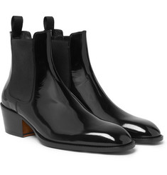 TOM FORD Webster Patent-Leather Chelsea Boots