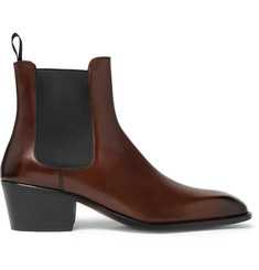 TOM FORD Webster Burnished-Leather Chelsea Boots