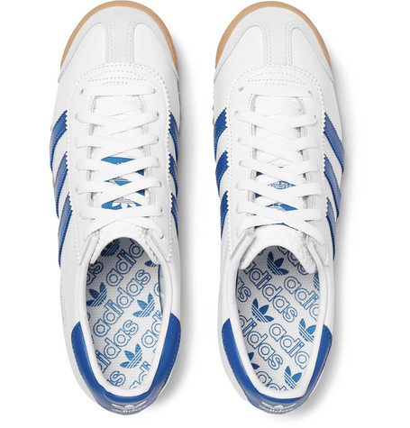 uk availability 09811 9b9ac adidas OriginalsRom City Series Suede-Trimmed Leather Sneakers
