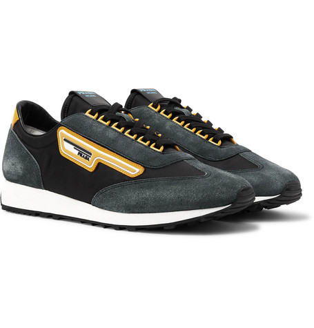 Prada Milano 70 Nylon and Suede Sneakers