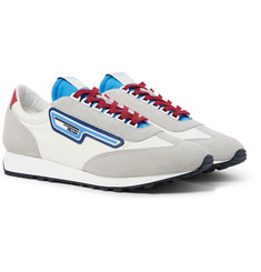 Prada - Milano 70 Rubber and Leather-Trimmed Nylon Sneakers