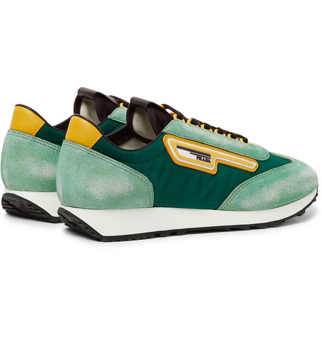 ac0714008788 Prada - Milano 70 Nylon and Suede Sneakers