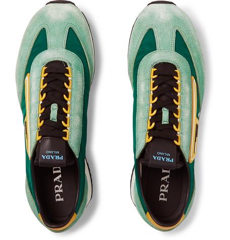 d56290559730 Prada - Milano 70 Nylon and Suede Sneakers