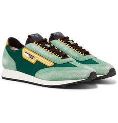 Prada - Milano 70 Nylon and Suede Sneakers