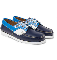 Prada - Colour-Block Leather Boat Shoes