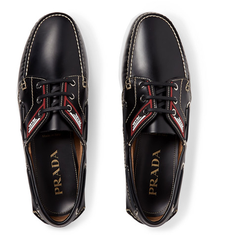 88e958e56650 Prada - Leather Boat Shoes