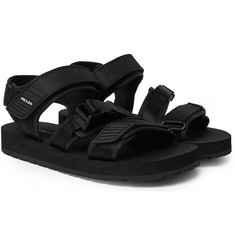 Prada - Rubber-Trimmed Canvas Sandals