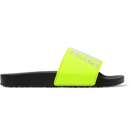 ce00e09436d6a Prada - Logo-Embossed Rubber Slides