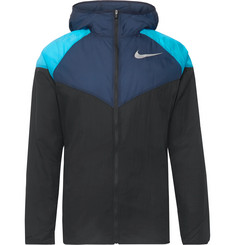 Nike Running Windrunner Colour-Block Nylon-Ripstop Hooded Jacket