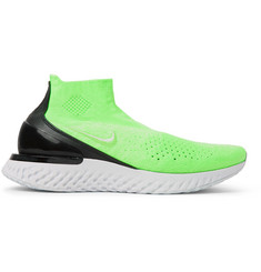 Nike Running Rise React Flyknit Slip-On Running Sneakers