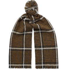 Mr P.-Checked Wool-Blend Scarf