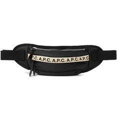 A.P.C. Lucille Canvas-Trimmed Logo-Print Nylon Belt Bag