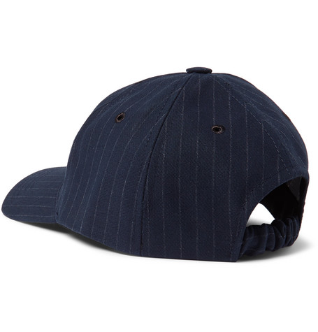 Pinstriped Cotton Blend Twill Baseball Cap by A.P.C.