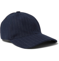 A.P.C. Pinstriped Cotton-Blend Twill Baseball Cap