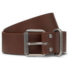 A.P.C. 3.5cm Brown Leather Belt