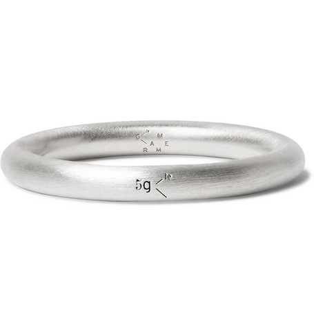 Le 5 Brushed Sterling Silver Ring by Le Gramme