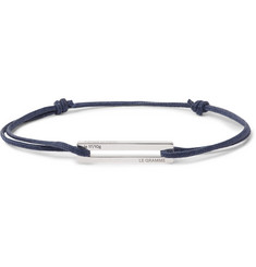 Le Gramme 17/10 Cord and Sterling Silver Bracelet