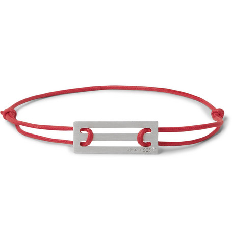 Le Gramme Accessories 25/10 CORD AND STERLING SILVER BRACELET