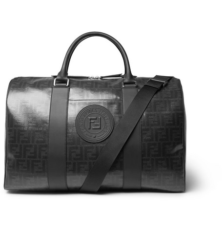 Fendi Leather-Trimmed Logo-Print Coated-Canvas Holdall
