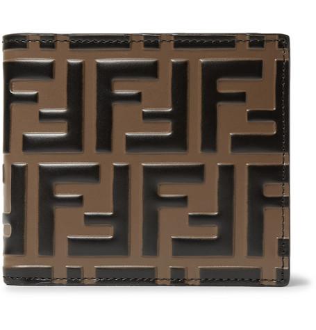 45cce7fb3bce Fendi - Logo-Embossed Leather Billfold Wallet