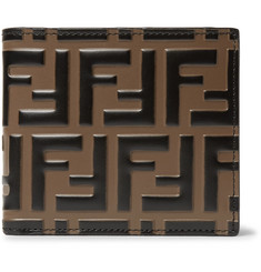 Fendi Logo-Embossed Leather Billfold Wallet