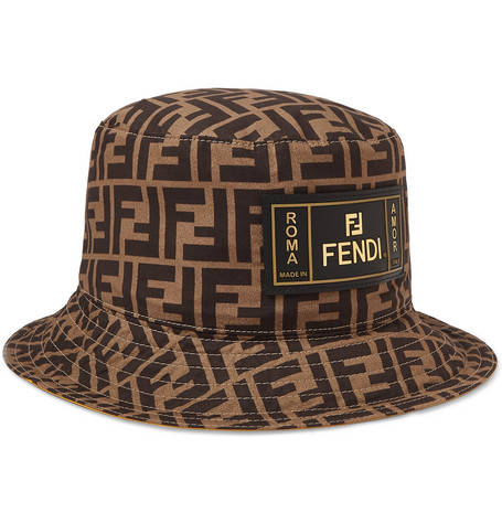 1f29aaaa80374 Fendi - Reversible Logo-Print Cotton Bucket Hat