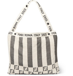 Fendi Convertible Logo-Jacquard Cotton-Blend Terry Tote Bag