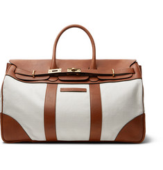 Brunello Cucinelli Canvas and Full-Grain Leather Holdall