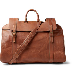 Brunello Cucinelli Full-Grain Leather Garment Bag