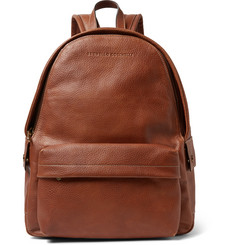 Brunello Cucinelli - Full-Grain Leather Backpack