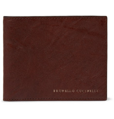 Brunello Cucinelli Creased-Leather Billfold Wallet
