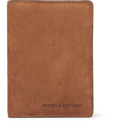 Brunello Cucinelli Suede and Textured-Leather Passport Cover