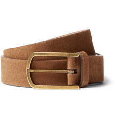 Brunello Cucinelli 4.5cm Brown Suede Belt