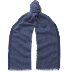 Brunello Cucinelli Cashmere and Cotton-Blend Scarf