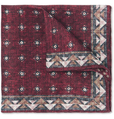 Brunello Cucinelli - Printed Linen and Cotton-Blend Pocket Square