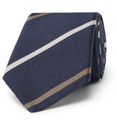 Brunello Cucinelli 6.5cm Striped Silk-Twill Tie