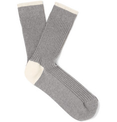 Brunello Cucinelli Ribbed Cotton Socks
