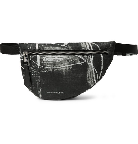 26fdd549 Alexander Mcqueen Printed Nylon Belt Bag In Black | ModeSens