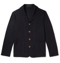 Giorgio Armani Slim-Fit Shawl-Collar Virgin Wool Cardigan