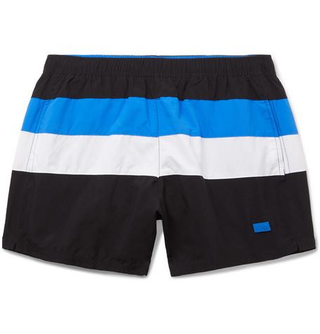 acd10cb933266 Hugo Boss - Mid-Length Striped Swim Shorts